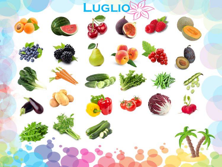 frutta e verdura di stagione luglio